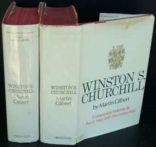 WINSTON S. CHURCHILL Companion Volume III part 1 and 2. Martin Gilbert