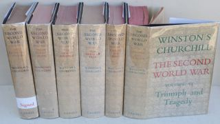 The Second World War, first edition set signed in Vol. I