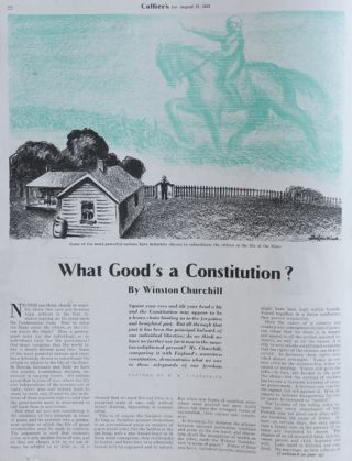 What Good's a Constitution?, in Collier's 22 August 1936