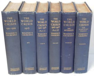 The World Crisis, full set of six firsts. Winston S. Churchill