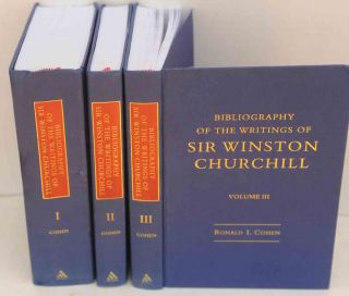 Bibliography of the Writings of Sir Winston Churchill in 3 vols. Ronald I. Cohen