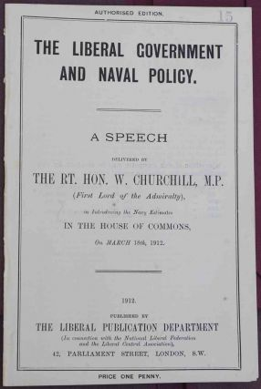 The Liberal Government and Naval Policy
