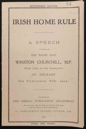 Irish Home Rule. Winston S. Churchill