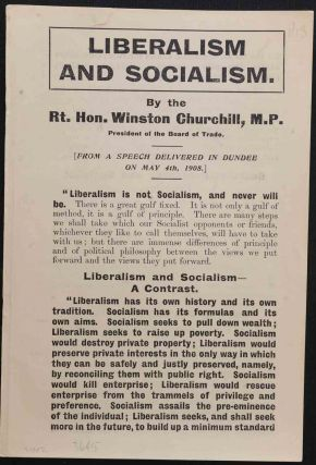 Liberalism and Socialism. Winston S. Churchill
