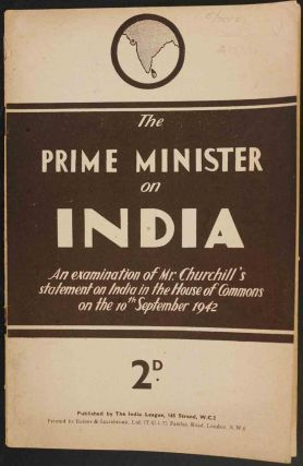 The Prime Minister on India. India League