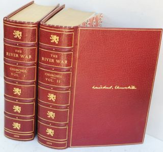 The River War ( 2 volume set in Bayntun binding). Winston S. Churchill.