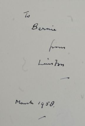 A History of the English-Speaking Peoples, Vol IV inscribed to Bernard Baruch. Winston S. Churchill