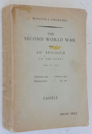The Second World War, Abridged one-volume edition PROOF COPY. Winston S. Churchill