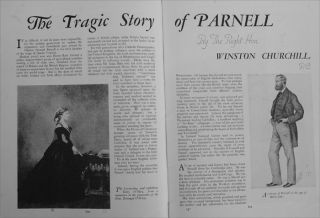 The Tragic Story of Parnell, in Strand Magazine October 1936
