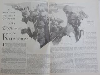 My Difference with Kitchener, in Cosmopolitan, November 1924
