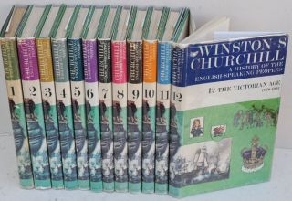 A History of the English-Speaking Peoples, 12 volume set Blenheim edition. Winston S. Churchill