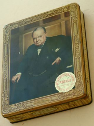 Churchill biscuit tin. Winston S. Churchill.