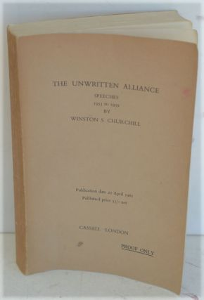 The Unwritten Alliance, proof. Winston S. Churchill