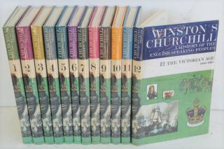 A History of the English-Speaking Peoples, 12 volume set School edition. Winston S. Churchill