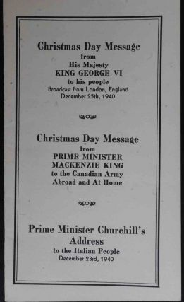 Christmas Day Messages from King George Vi to his people
