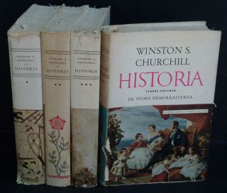 Historia ( Swedish translation of A History of the English-speaking Peoples in 4 volumes.)....