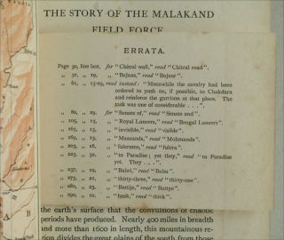 The Story of the Malakand Field Force, Colonial edition on thick paper