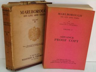 Marlborough Volume II Advance Proof Copy. Winston S. Churchill.