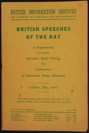 British Speeches of the Day May 1944. Winston S. Churchill