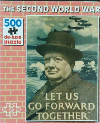 Let us Go Forward Together jigsaw puzzle. Winston S. Churchill.