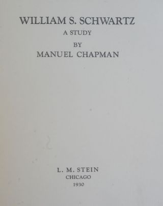 William S. Schwartz : A Study