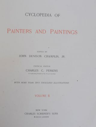 Cyclopedia of Painters and Paintings (4 vols)