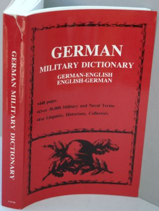 German Military Dictionary. anon